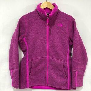 EUC THE NORTH FACE fleece pink jacket